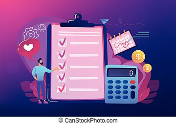 Budget planning concept vector illustration.