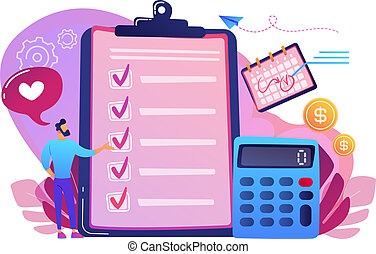 Budget planning concept vector illustration.
