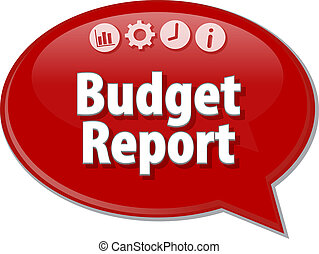 Budget Report  blank business diagram illustration