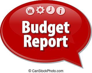 Budget Report  blank business diagram illustration