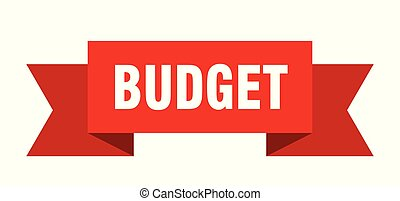 budget ribbon. budget isolated sign. budget banner