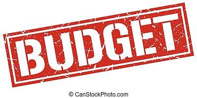 budget square grunge stamp