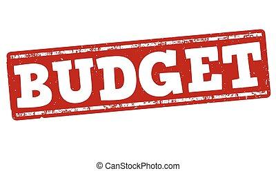 Budget stamp - Budget grunge rubber stamp on white...