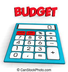 budget, taschenrechner