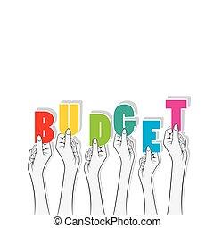 budget text banner design