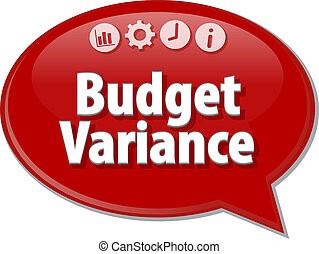 Budget Variance  blank business diagram illustration