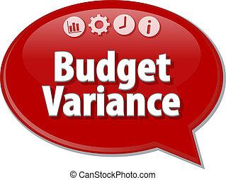 Budget Variance  blank business diagram illustration