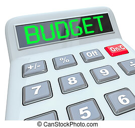 Budget Word Calculator Home Business Finances - The word ...
