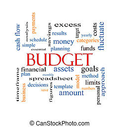 Budget Word Cloud Concept