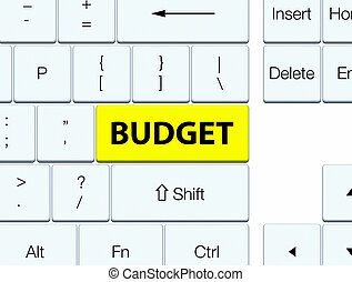 Budget yellow keyboard button