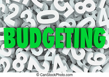 Budgeting 3d Word Numbers Background Financial Money Plan -...