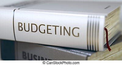 Budgeting - Business Book Title. - Book Title on the Spine...