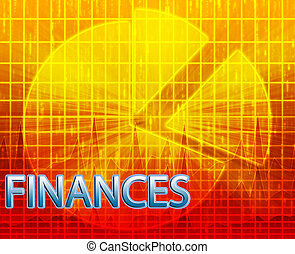 Budgeting finance illustration