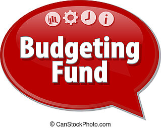 Budgeting Fund  blank business diagram illustration