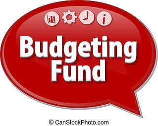 Budgeting Fund  blank business diagram illustration