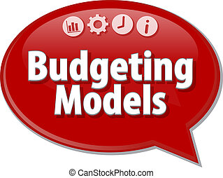 Budgeting Models  blank business diagram illustration