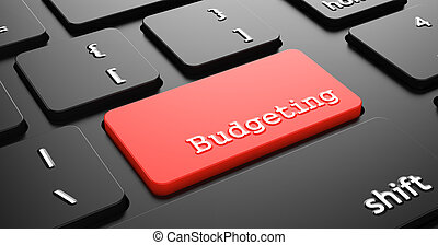 Budgeting on Red Keyboard Button.