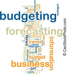 Budgeting wordcloud - Word cloud tags concept illustration...