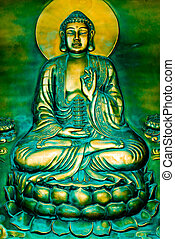 Budha Sitting on a Lotus - The Budha sitting on a lotus ...