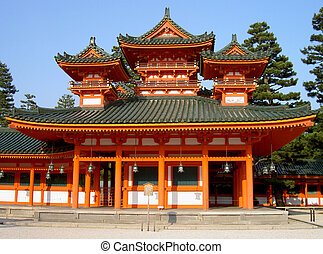 An aspect from one of the biggest temple in Kyoto, Japan-Heian Shrine