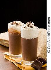 budino, cioccolato