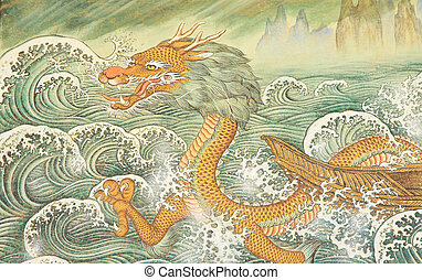 budismo, dragão