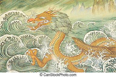 budismo, dragón