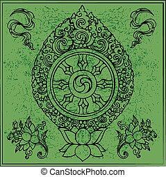 budismo, tibetano, eterno, símbolo
