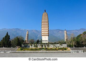 budista, china, pagodas