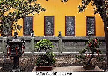 budista, chino, más, jade, shanghai, nuevo, aguafuertes,...