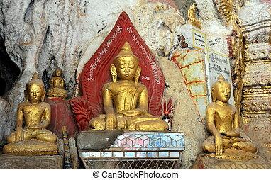 budista, pindaya, cueva