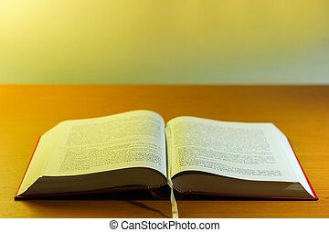 budista, religión, libro