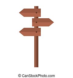 budle of signs with brown color vector illustration design