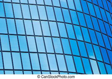 budova, abstraktní, moderní, detail