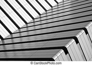 budova, abstraktní, vnější