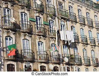 budova, do, alfama, portugalsko