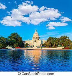 budova, hlavní, kongres, washington dc, nám