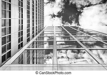 budova, moderní, úřad
