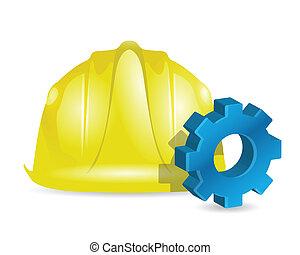 budova, průmyslový, pojem, design