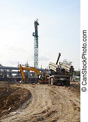 budowa zbudowanie, umiejscawiać, handlowy