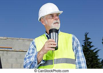 budowniczy, umieszczenie zbudowania, inżynier