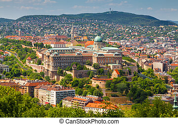 Budpaest, Hungary - Panorama of Budapest (capital of...