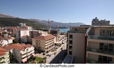 Budva, Montenegro, the view from the high-rise building in the c
