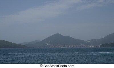 Budva Riviera in Montenegro. Sea coast mountains