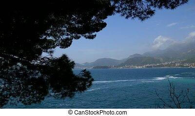 Budva Riviera in Montenegro. Sea coast mountains - Budva...