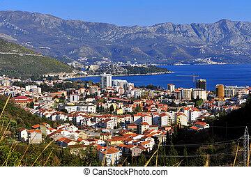 Budva urban skyline, Montenegro