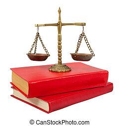 buecher, waage, gerechtigkeit, gesetzlich