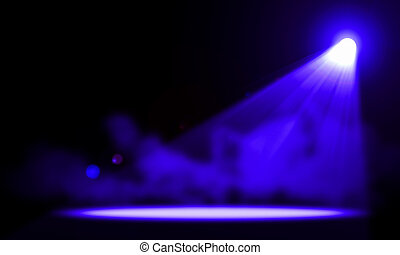 buehne, lights., illustration.