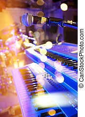 buehne, lights.abstract, musikalisches, background.playing, lied, und, concert, begriff