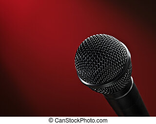 buehne, mikrophon